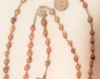 Bean  Beaded Rosary