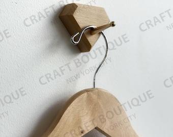 MODERN WALL HOOK - Kitchen Wall Hooks - Wooden Wall Mount Hanger For Clothes - Housewarming Gift - Minimalist Hook Rack For Wall