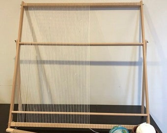 Huge Professional Weaving Loom Kit With Adjustable Stand (89 cm x 87 cm), Large Tapestry loom