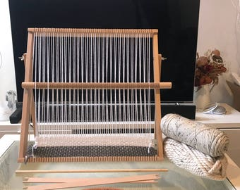 X Large Weaving Loom Kit, Also Known as Tapestry Weave Loom  Lap Heddle Loom With Stand, Weave Frame Loom, For Beginners  - DIY