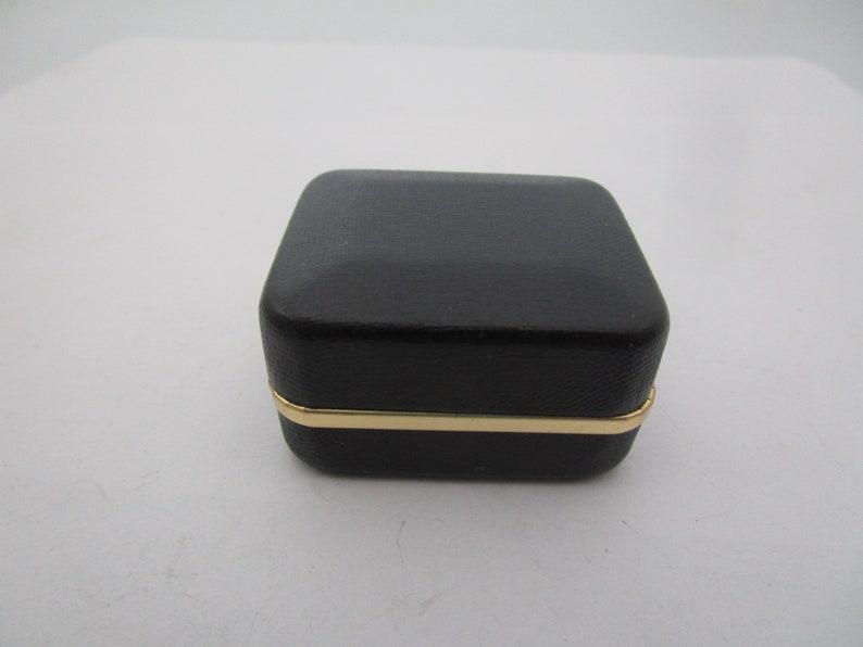 Vintage Black with Gold Trim Jewel Box