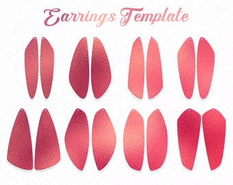 earring svg, leather earring template, vector pendant silhouettes, template for cricut