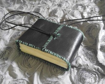Hand-bound Leather Book with Corded Closure