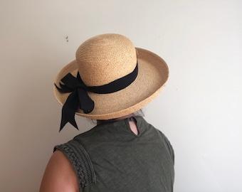 Wide brim straw hat  23573ca6af69