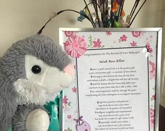 Baby Girl - Framed Inspirational Acrostic Poem