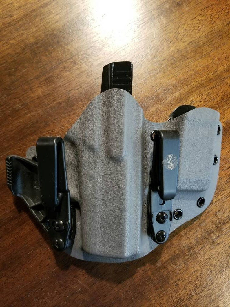 Glock 43 Inside Waist Band Appendix Carry AIWB Holster with Mag Carrier in  Storm Grey and Black