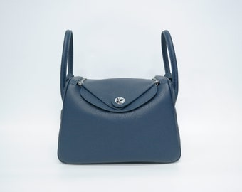 4063cb1b70 Navy leather shoulder bag