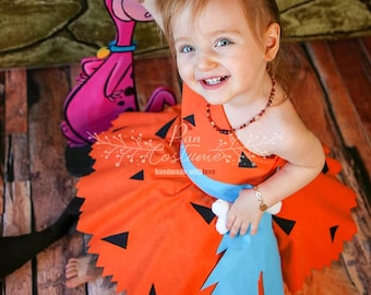 Pebbles Costume Baby Toddler Girl Halloween Top And | Etsy
