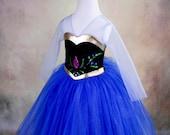 Princess Anna Costume, Disney Frozen Inspired Princess Anna Dress.