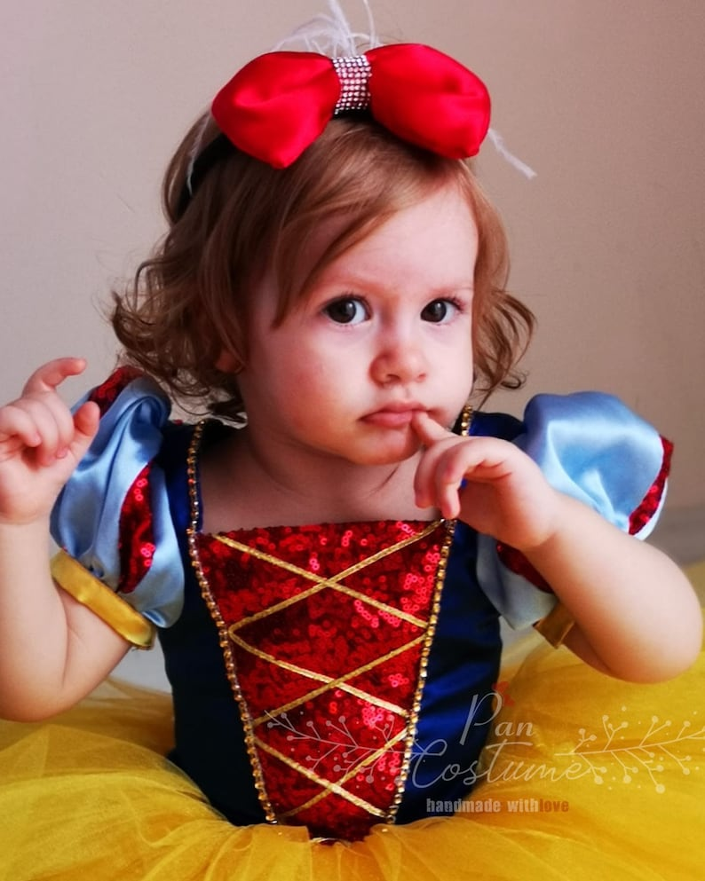 First Birthday Dress Snow White Baby Dress Snow White Party Dress Toddler Photo Shoot Snow White Outfit. 1st Birthday Dress