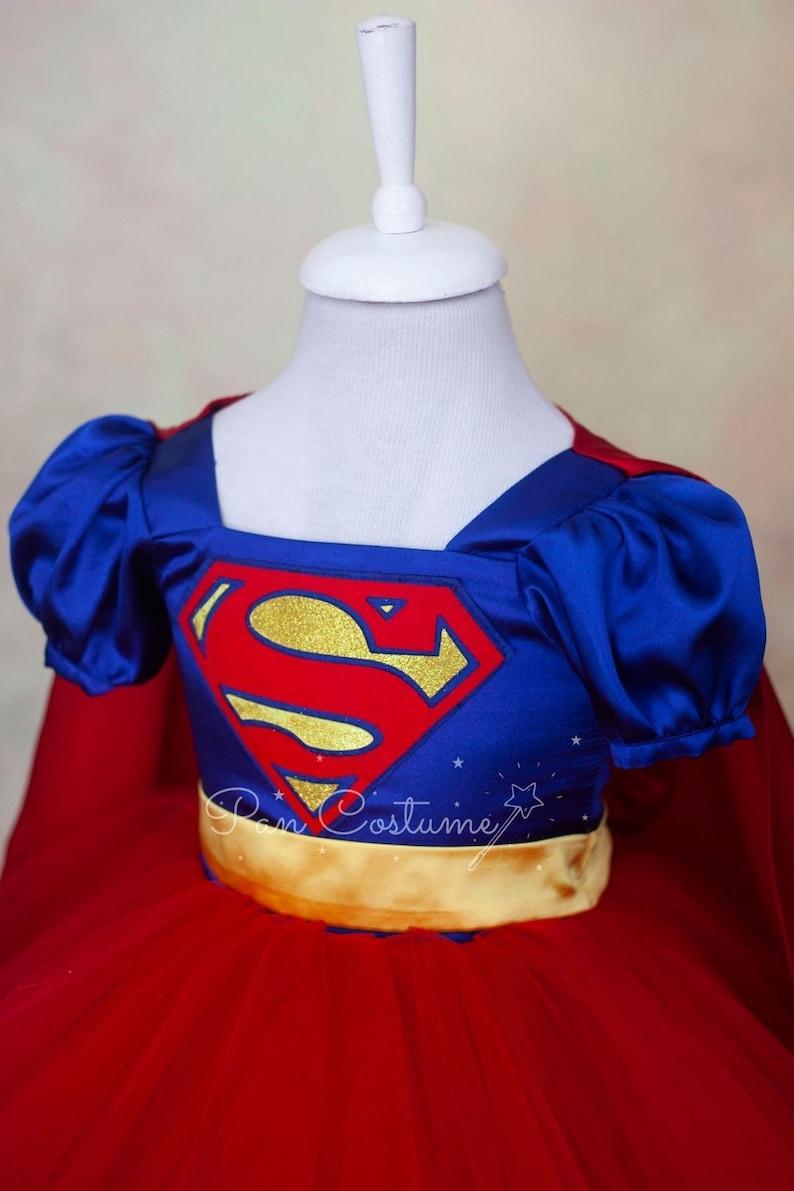 Super girl Costume Super girl Birthday Party Dress