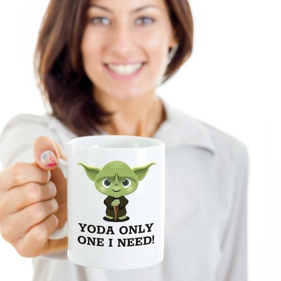 Star Wars Valentines Gifts For Boyfriend Yoda Mug Mens Etsy