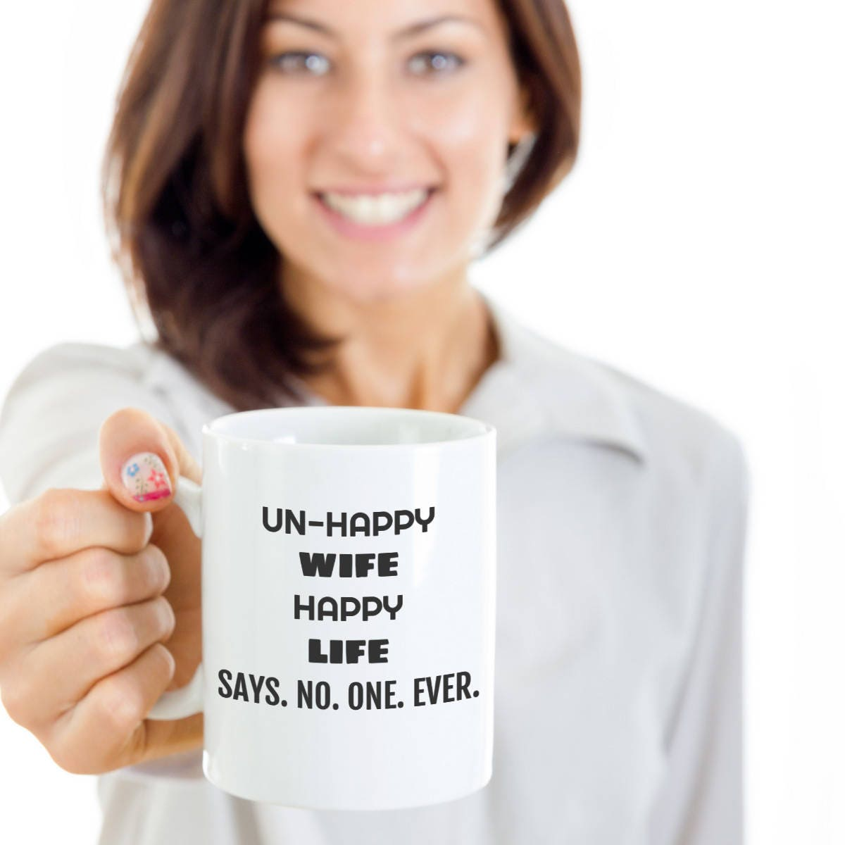 Humorous Quotes Un Happy Wife Humorous Coffee Mugs Wifey Etsy