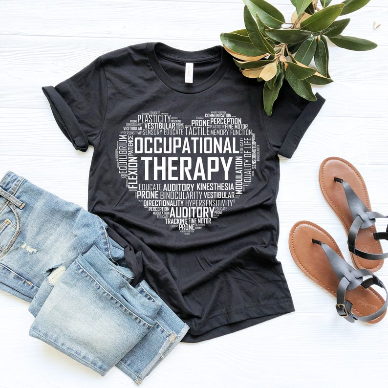 Occupational Therapy Heart, Occupational Therapist, Occupational Therapist  Shirt, Occupational Gift, Tank Top, Sweatshirt, Hoodie
