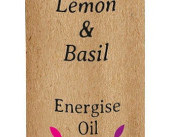 Energise Pulse Point Oil - 10ml (Aromatherapy, Lemon & Basil)