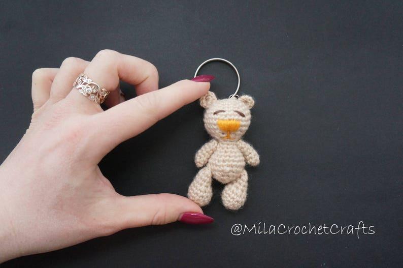 Crochet Orso Coniglietto Portachiavi Uncinetto Portachiavi Etsy