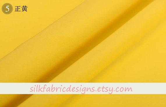 Star Print Creamy Yellow 100/% Pure Silk Crepe de Chine Fabric Width 44 inch