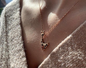 """Pendant with chain """"Giraffe"""", 18k gold plated"""
