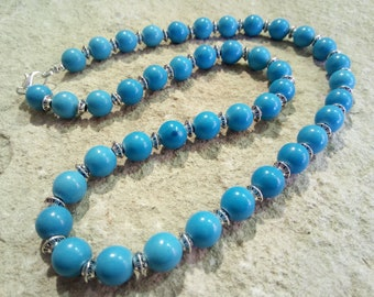 Magnesite (dyed) chain 10 mm different Lengths selectable #004