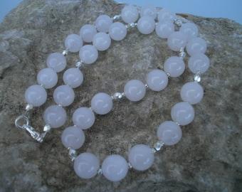 """Rose quartz chain """"Sophia"""" 10 mm, 42 cm #625"""