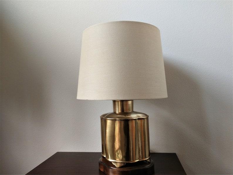 Frederick Cooper Quatrefoil Shaped Lamp Vintage Brass  Rewired   Three-way Socket