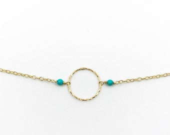 Circle with turquoise