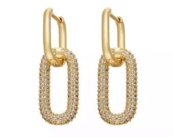 New York rectangle earring