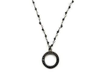 Tiny circle necklace