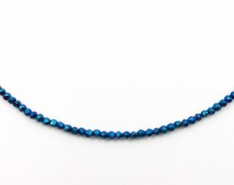 Gemstone choker blue hematite