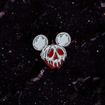Glow in the Dark Poison Apple Mickey Ears Pin
