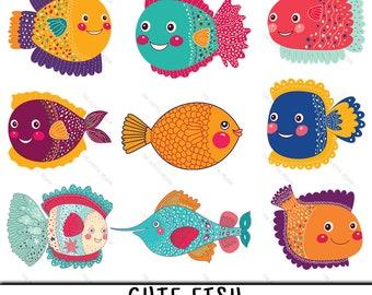 Fish Clipart Cute Clip Art PNG Angelfish