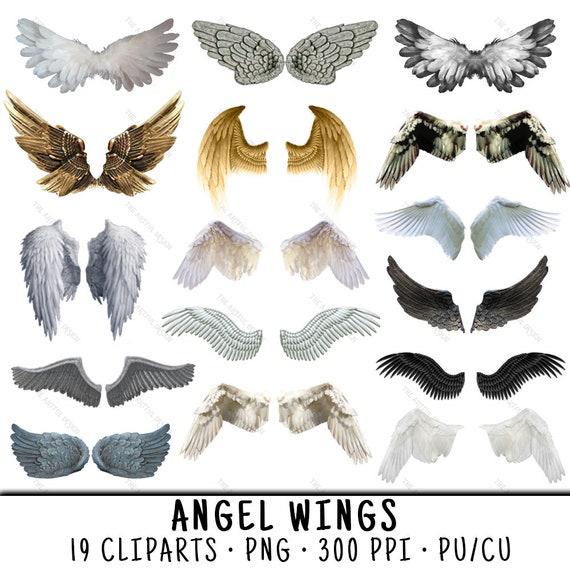 Engel Flügel Clipart Angel Wing Clipart Clipart Engel Etsy