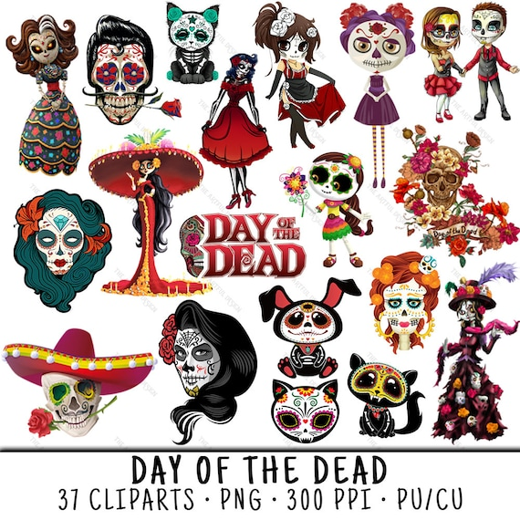 day of the dead mexican clipart skull clipart day of the etsy