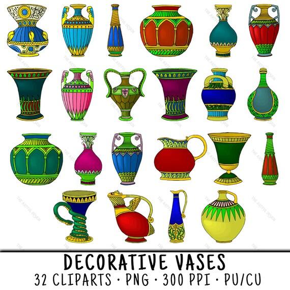 Vase Clipart Vase Clip Art Clipart Vase Clip Art Vase Vase Etsy
