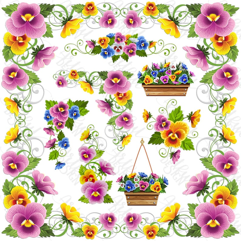 Pansy Flower Floral Clipart Flower Clipart Pansy Flower PNG PNG Pansy Flower Pansy Clipart Floral Clip Art Pansy Clip Art