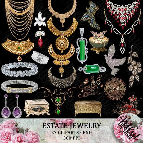 Cartoon Jewelryclipart Color Stock Vector (Royalty Free) 53049337