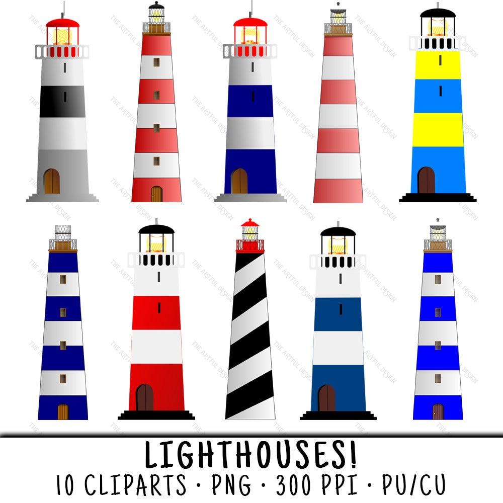 Lighthouse Clipart Light House Clip Art Etsy Electronic Bulb Circuit Symbol Arts 50