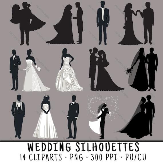 Hochzeitspaar Hochzeit Silhouette Hochzeit Clipart Clipart Etsy