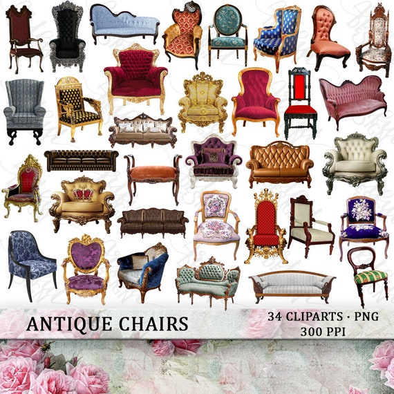 Chair Clipart Sofa Clipart Furniture Clipart Chair Clip Art Sofa Clip Art Furniture Clip Art Chair Png Sofa Png Antique Furniture