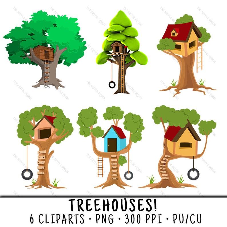 Treehouse Clipart Treehouse Clip Art Clipart Treehouse Clip Etsy