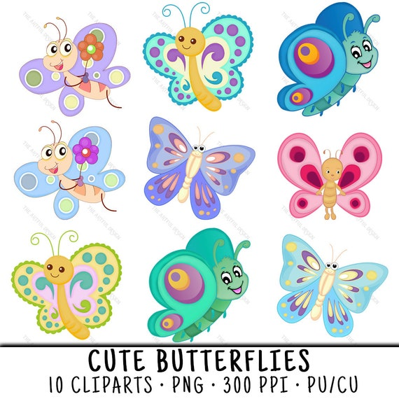 Butterfly Clipart Butterfly Clip Art Clipart Butterfly Clip Etsy