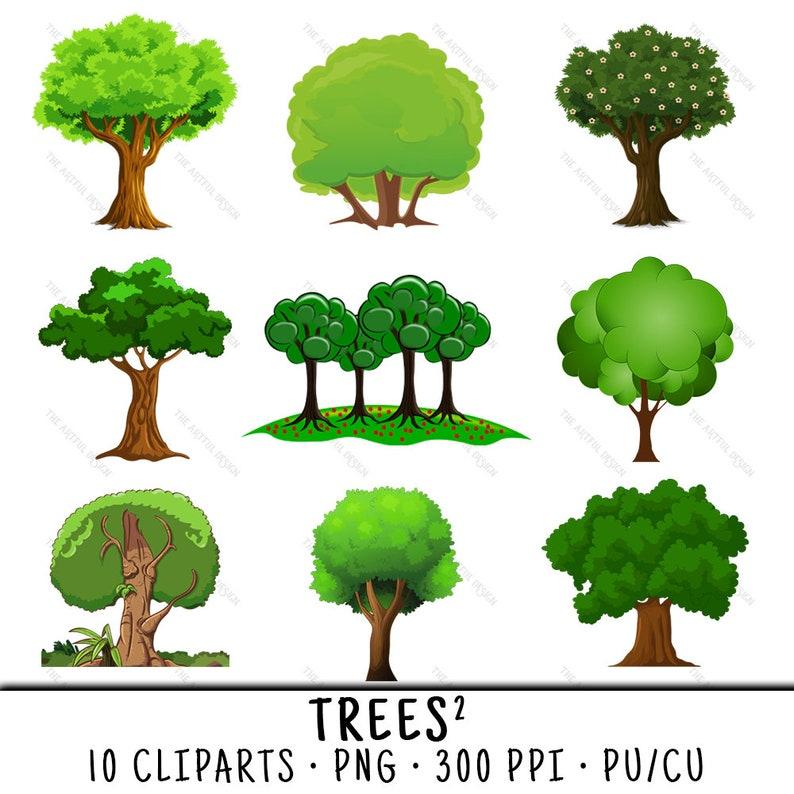 Tree Clipart Tree Clip Art Clipart Tree Clip Art Tree Tree Etsy