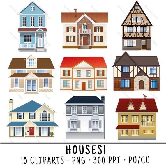 Haus Clipart Haus Clipart Clipart Haus Clip Art Haus Haus Etsy