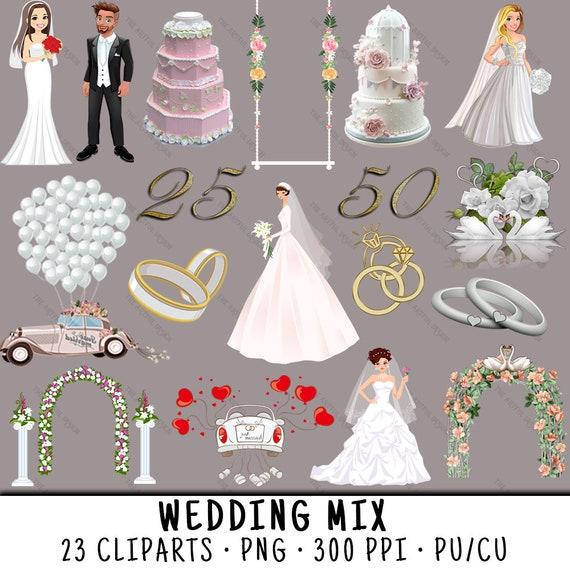 Hochzeit Clipart Clipart Braut Hochzeit Clipart Braut Etsy