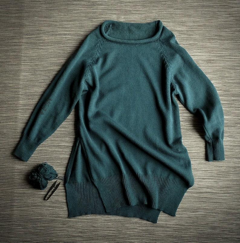 Winter wear Winter tunic Urban dress Big sweater Knitted tunic Loose sweater Wool sweater dress Hand painted sweater