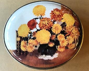 1970s Flower Tin