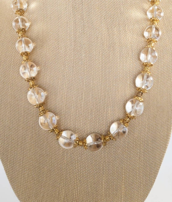 Pools Of Light rock crystal necklace, 1930s pool … - image 1