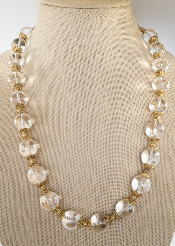 Pools Of Light rock crystal necklace, 1930s pool … - image 5