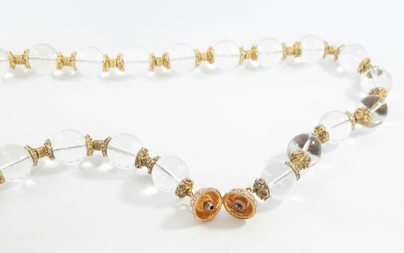 Pools Of Light rock crystal necklace, 1930s pool … - image 6