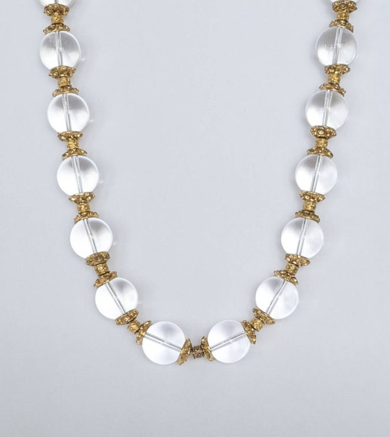 Pools Of Light rock crystal necklace, 1930s pool … - image 4